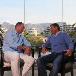 Diego Biasi incontra Jacobus François Pienaar, capitano della nazionale Sudafricana che vinse la coppa del mondo nel 1995 a Cape Town.